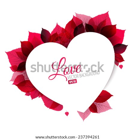 Pink abstract floral background (Valentines love card) with place for your text - stock vector