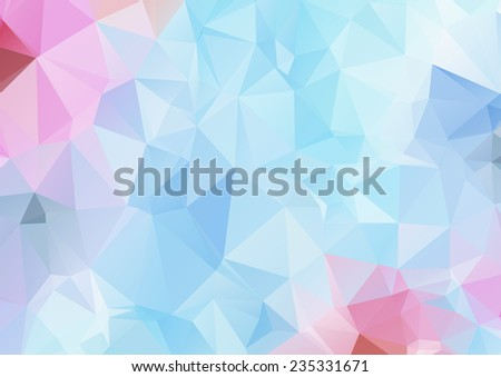 Pink abstract polygonal background - stock vector