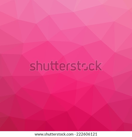 Pink abstract polygonal triangle mosaic pattern background  - stock vector