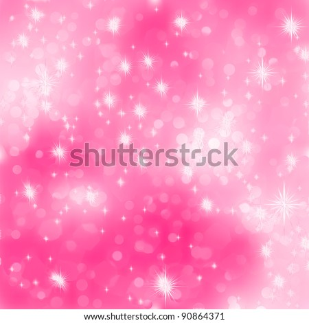 Pink abstract romantic background with stars. EPS 8 vector file included - stock vector