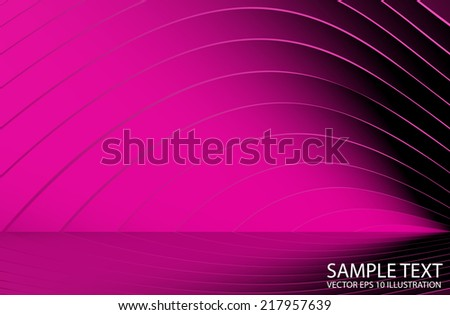Pink abstract vector lines reflected background illustration - Shades reflection abstract background template - stock vector