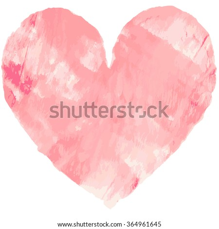 Pink acrylic printed heart - vector - stock vector