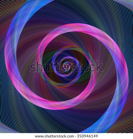 Pink and blue abstract geometric spiral design background - stock vector