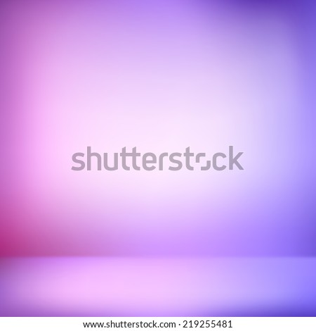pink and purple abstract illustration background texture of gradient wall and flat floor in empty spacious room interior - stock vector