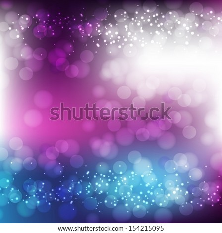 Pink and Purple Background With Bokeh And Blur. Vector EPS 10 illustration. - stock vector