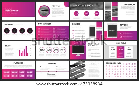 Pink Purple Modern Presentation Template You Stock Vector 673938934 ...