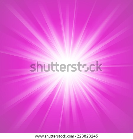 Pink and white abstract magic light background. Vector illustration for your majestic design. Element for web design. - stock vector