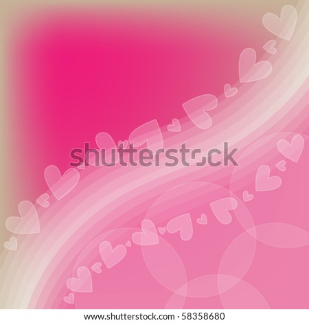 Pink and white romantic vector heart background