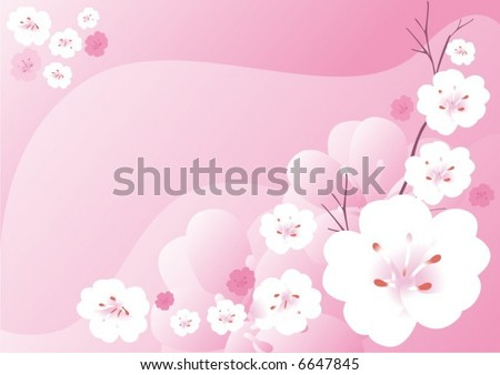 pink background - stock vector