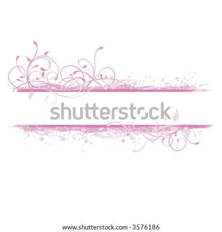 Pink background, banner design element - stock vector