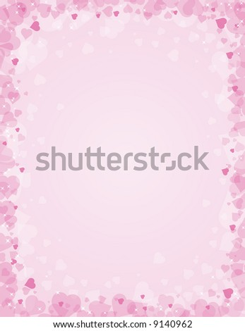 pink background for valentines day, vector illustration - stock vector