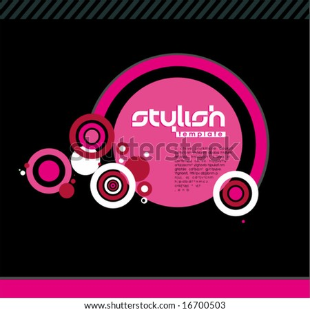 Pink Background. To see similar, please VISIT MY GALLERY. - stock vector
