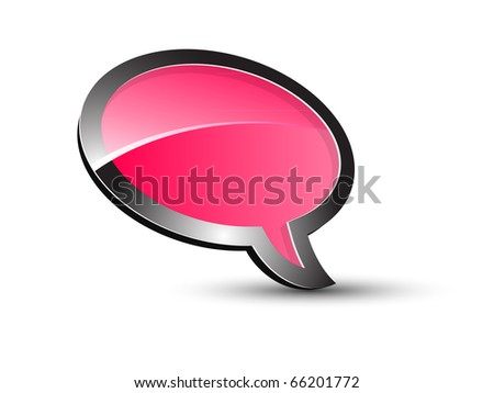 Pink Balloon conversation - stock vector