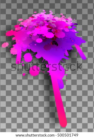 Pink blots paint background