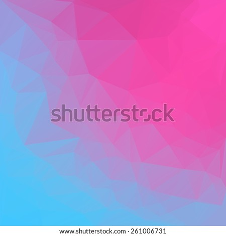 Pink blue abstract polygonal background. Vector mosaic pattern - stock vector