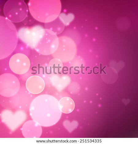 Pink bokeh effect vector shining background - stock vector