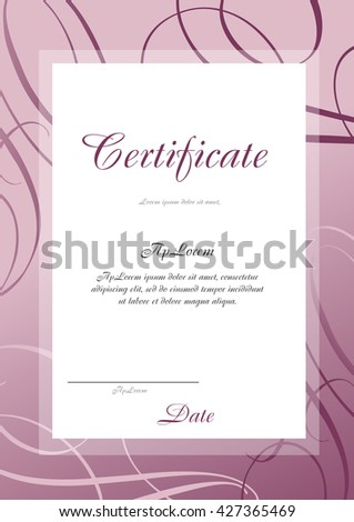 Pink certificate