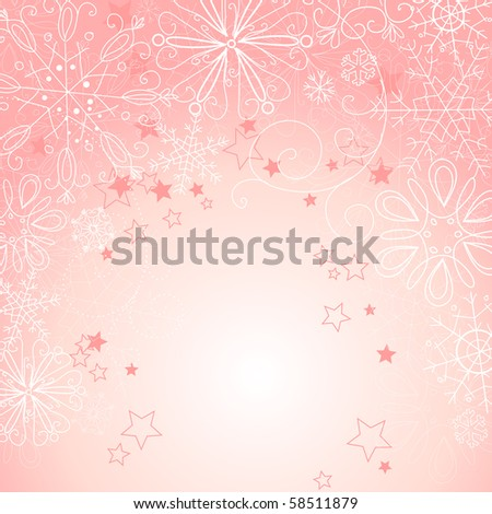 Pink christmas background - stock vector