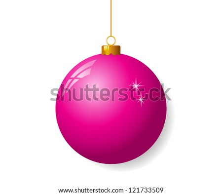 Pink christmas ball - stock vector