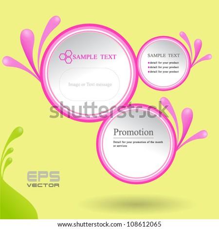 pink cirlce - stock vector