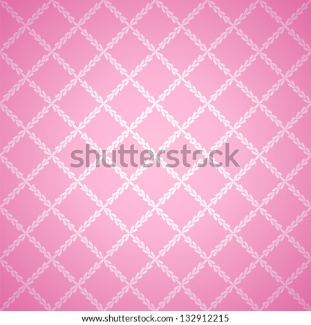 Pink cloth texture background. Vector illustration for your lovely design. Book cover. Fabric bright romantic canvas wallpaper with delicate striped pattern. - stock vector