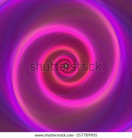 Pink color neon light spiral design background - stock vector