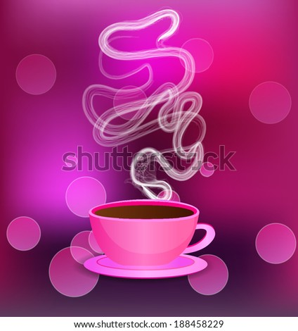 Pink cup. - stock vector