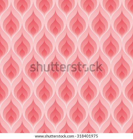 Pink flame wallpaper. 3d seamless background. Vector EPS10. - stock vector