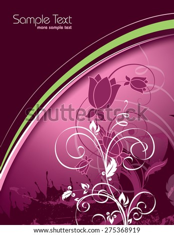 Pink Floral Background. - stock vector