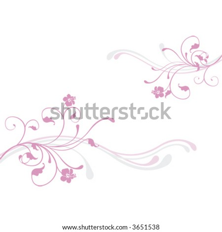 Pink flower, background - stock vector