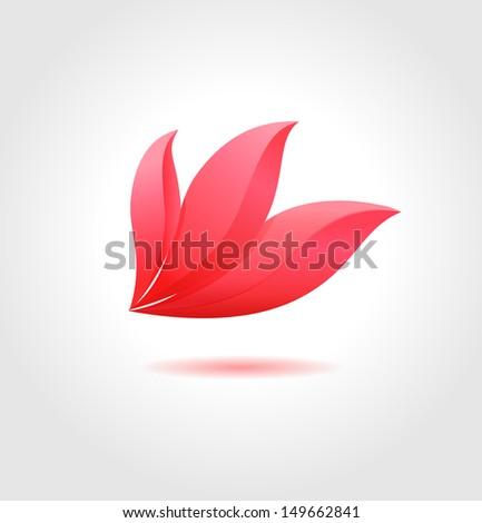 Pink flower. Spa concept. Flower business abstract symbol - stock vector