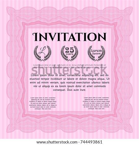 Pink formal invitation vector illustration complex stock vector pink formal invitation vector illustration complex background excellent design stopboris Images