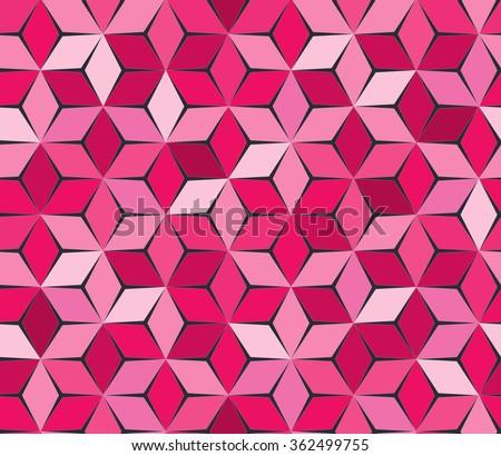 Pink geometric backdrop. Polygonal crystal texture. Magenta background. Romantic texture. - stock vector