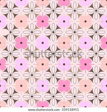 Pink geometric  pattern seamless  - stock vector