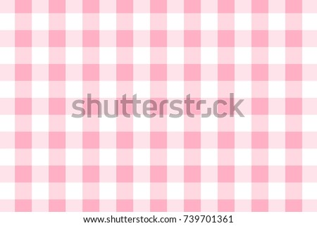 Beautiful Pink Gingham Pattern. Texture From Rhombus/squares For   Plaid, Tablecloths,  Clothes