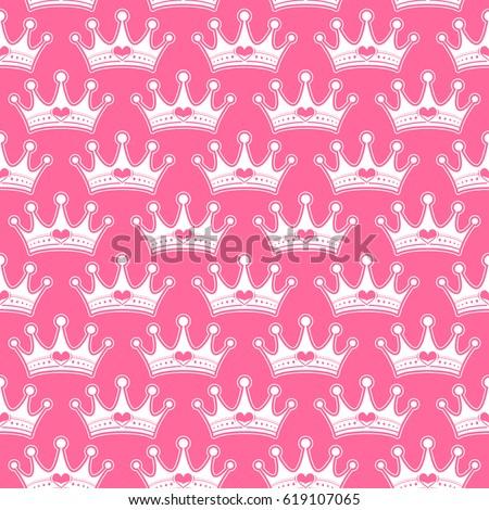 pink crowns vector stock vector 607989860 shutterstock