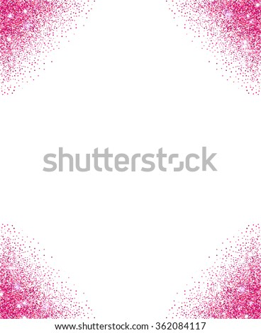 Pink glitter background pink sparkle frame stock vector 362084117 pink glitter background pink sparkle frame for your text vector template for holiday designs stopboris