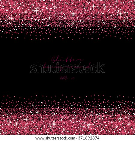 pink glitter border background fuchsia tinsel stock vector royalty