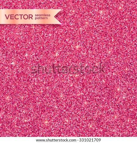 Pink glitter texture vector seamless pattern - stock vector