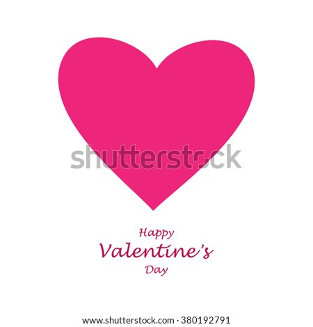 Pink hart.Vector Valentine's Day - stock vector
