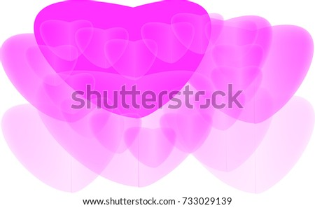 Pink heart abstract colorful vector
