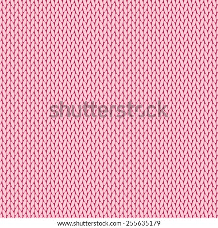 Pink knitted background - stock vector