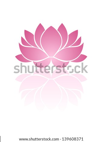 Pink lotus. Eps-10 vector illustration.