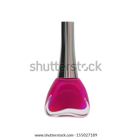 pink nail polish manicure vector color beauty glamour fashion bottle isolated