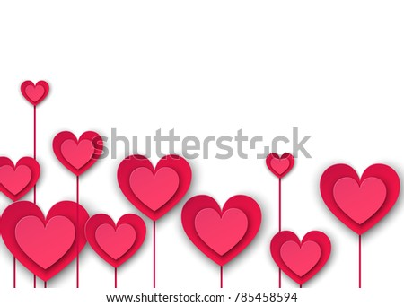 Pink paper flowers form hearts on stock vector 2018 785458594 pink paper flowers form hearts on stock vector 2018 785458594 shutterstock mightylinksfo