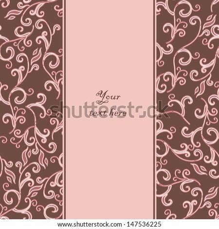 Pink pattern. Invitation. Vector ornament. - stock vector