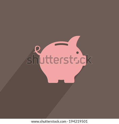 Pink piggy bank savings and investment planning concept vector illustration - stock vector