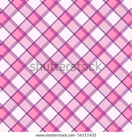 Pink plaid pattern - stock vector