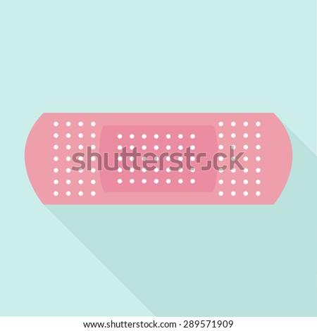 Pink Plaster icon vector illustration - stock vector