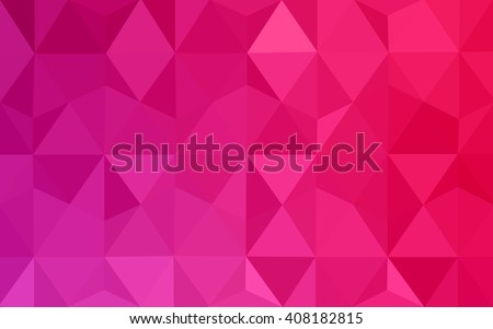 Pink polygonal illustration, which consist of triangles. Geometric background in Origami style with gradient. Triangular design for your business.